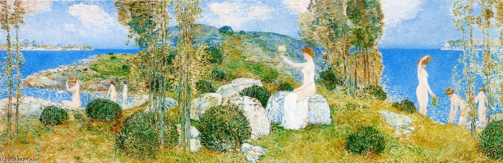 famous painting The Bathers of Frederick Childe Hassam