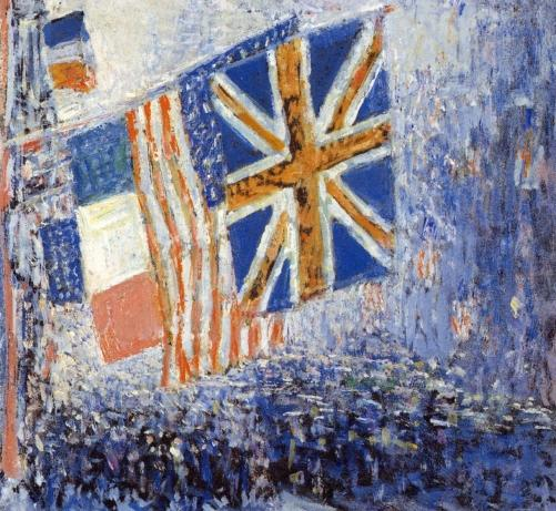 famous painting The Big Parade of Frederick Childe Hassam