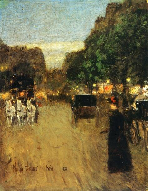 famous painting The Boid de Boulogne of Frederick Childe Hassam