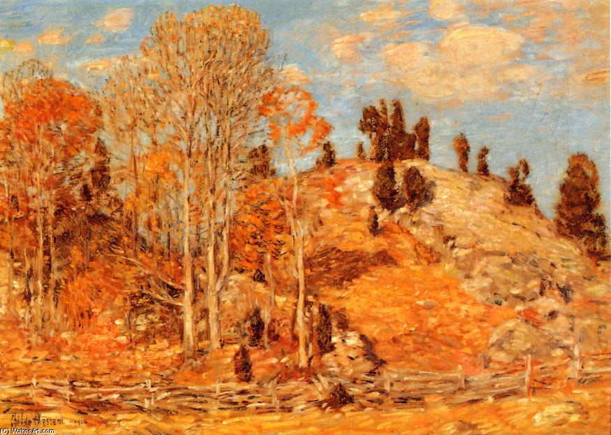 famous painting The Cedar Lot, Old Lyme of Frederick Childe Hassam