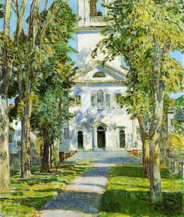 famous painting The Church at Gloucester of Frederick Childe Hassam
