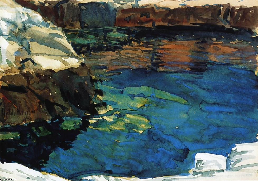 famous painting The Cove of Frederick Childe Hassam