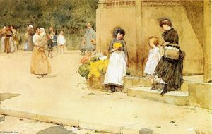 Frederick Childe Hassam - The Flower Seller