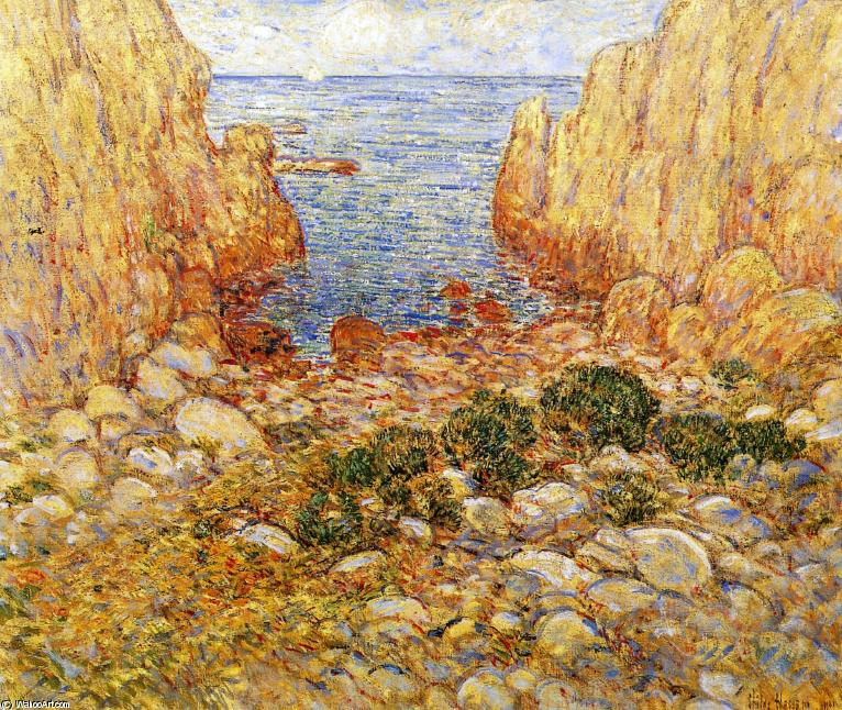 famous painting The Gorge - Appledore, Isles of Shoals of Frederick Childe Hassam