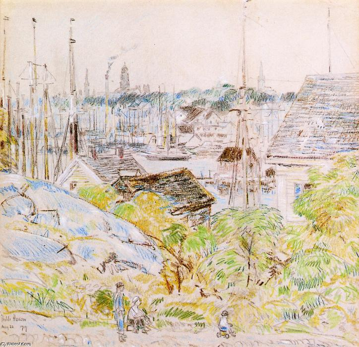 famous painting The Harbor of a Thousand Masts, Gloucester of Frederick Childe Hassam