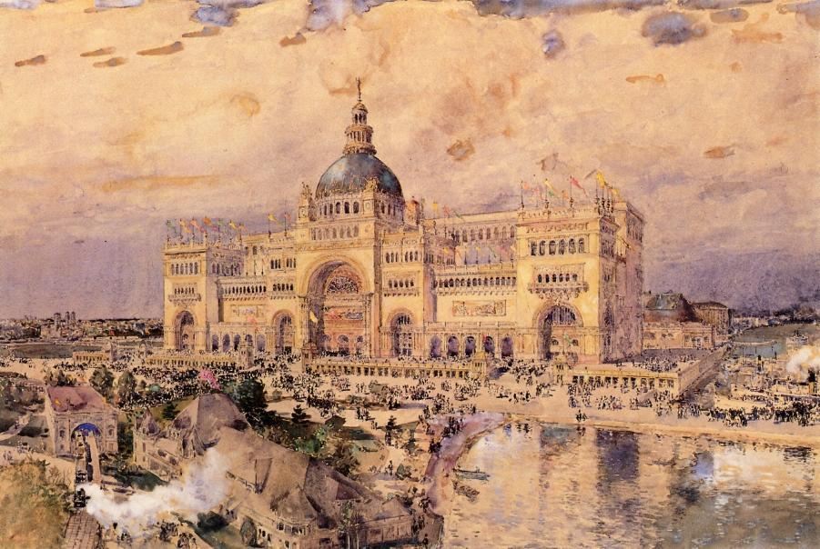 famous painting The Mackaye Spectatorium of Frederick Childe Hassam