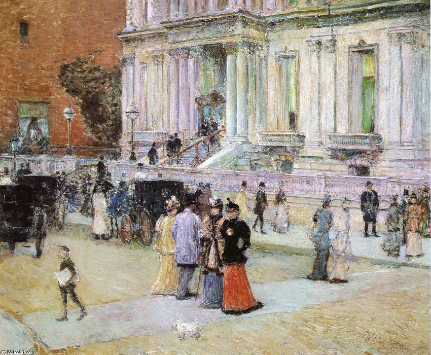 famous painting The Manhattan Club of Frederick Childe Hassam