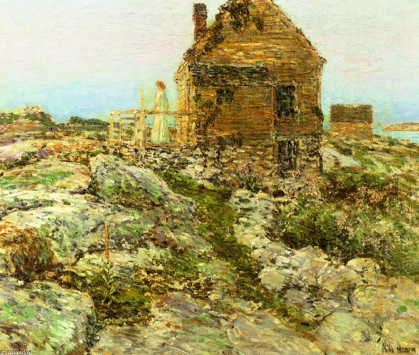 famous painting The Norwegian Cottage of Frederick Childe Hassam