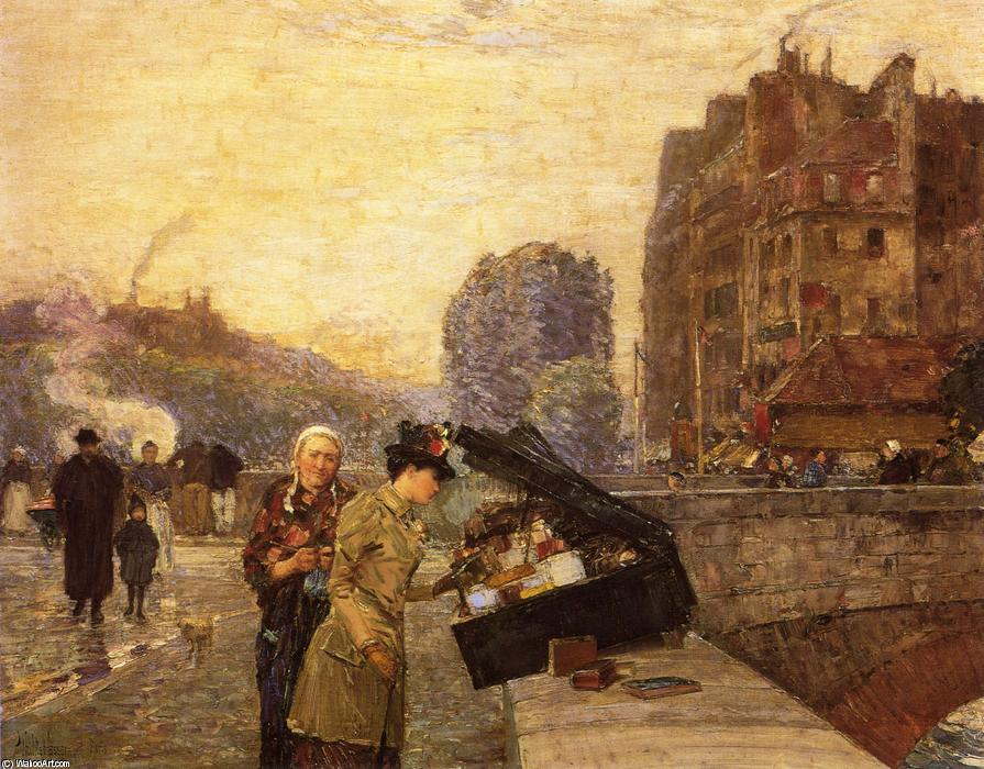famous painting The Quai St. Michel of Frederick Childe Hassam