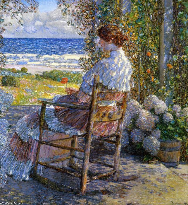 famous painting The Sea of Frederick Childe Hassam