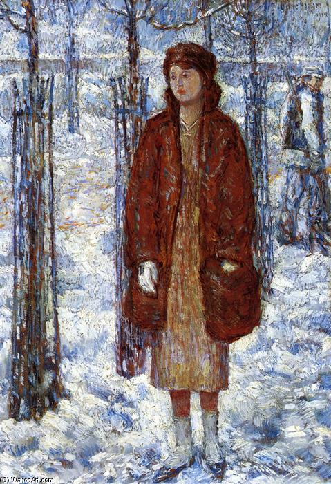 famous painting The Snowy Winter of 1918, New York of Frederick Childe Hassam