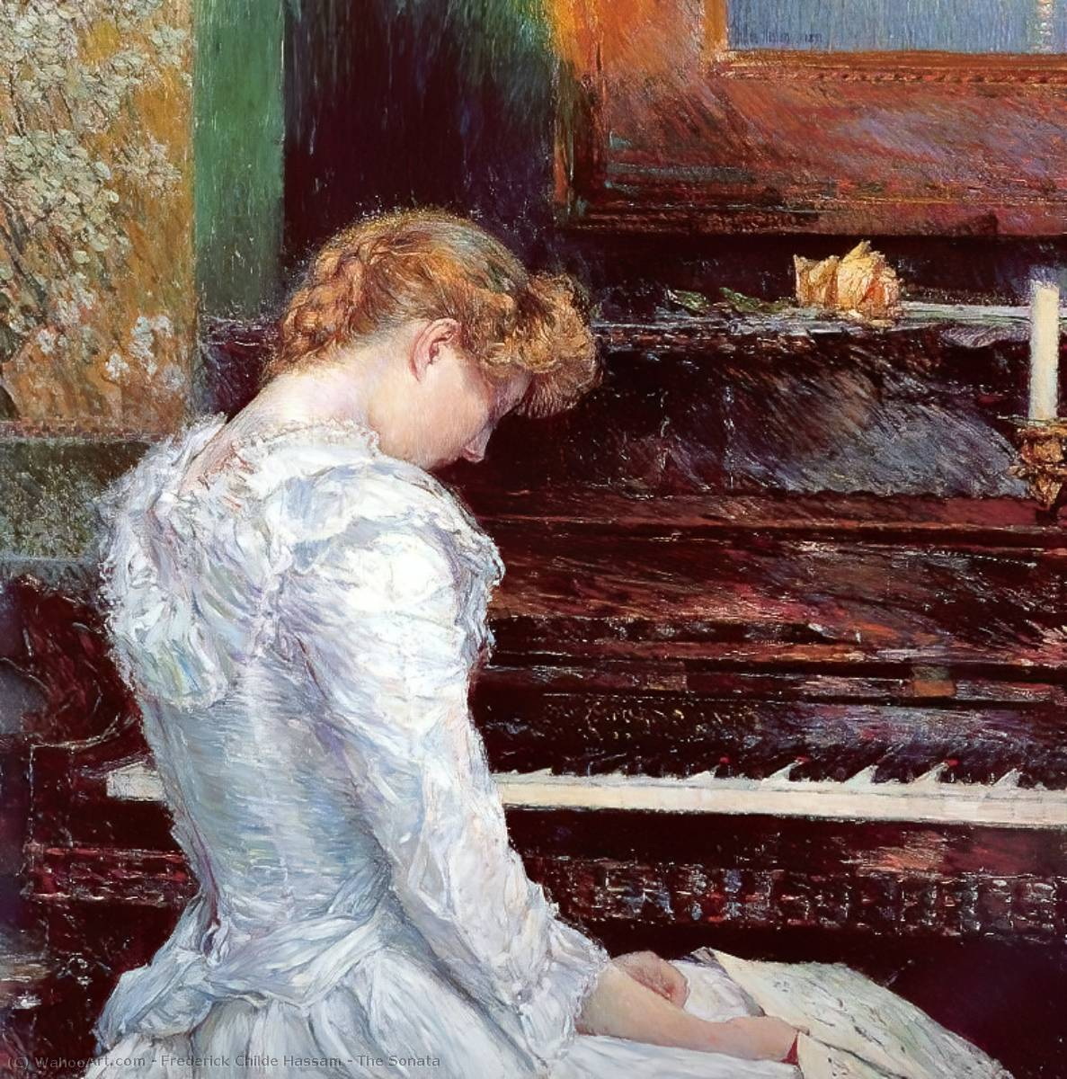 famous painting The Sonata of Frederick Childe Hassam