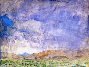 Frederick Childe Hassam - Thunderstorm on the Oregon Trail