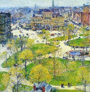 Frederick Childe Hassam - Union Square in Spring