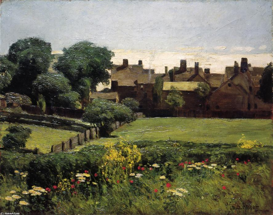 famous painting Village Scene of Frederick Childe Hassam