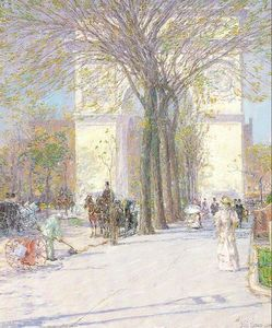 Frederick Childe Hassam - Washington Arch in Spring