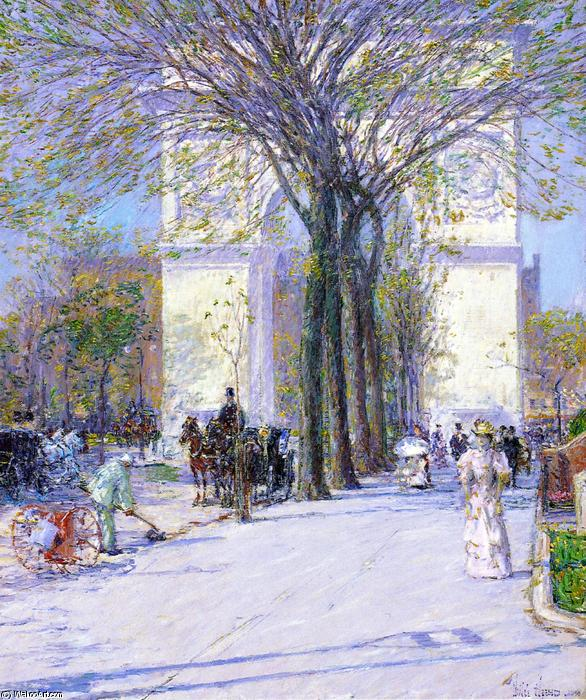 famous painting Washington Arch, Spring of Frederick Childe Hassam