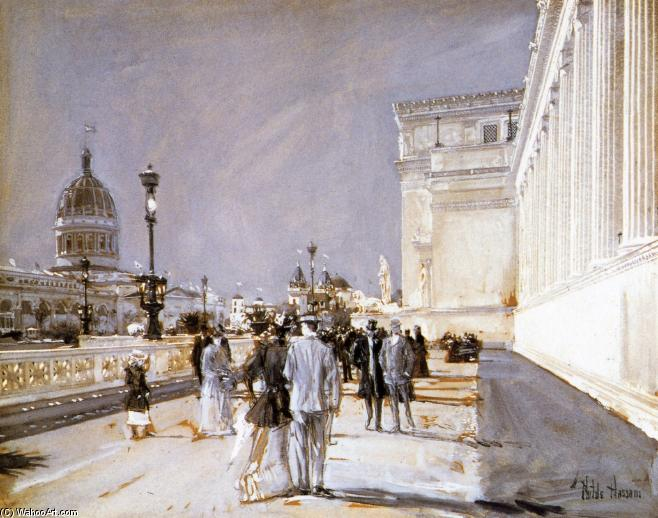 famous painting World's Fair, Chicago of Frederick Childe Hassam