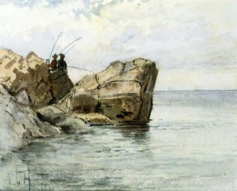 famous painting Young Fishermen of Frederick Childe Hassam