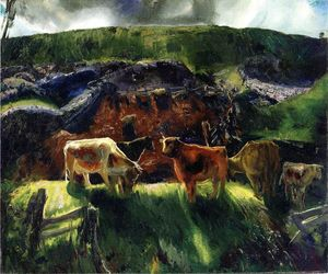 George Wesley Bellows - Cattle and Pig Pen
