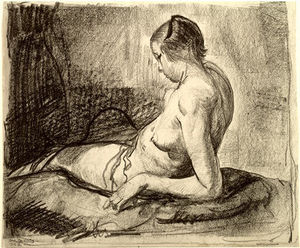 George Wesley Bellows - Nude Girl Reclining