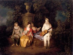 Jean Antoine Watteau - Party of Four