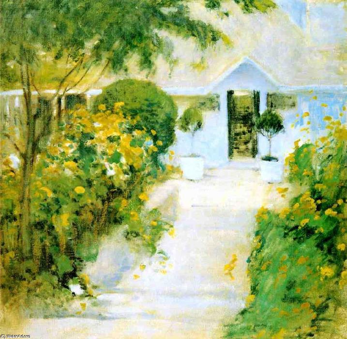 famous painting A Garden Path of John Henry Twachtman