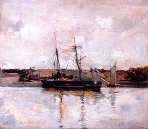 John Henry Twachtman - Boats At Dieppe