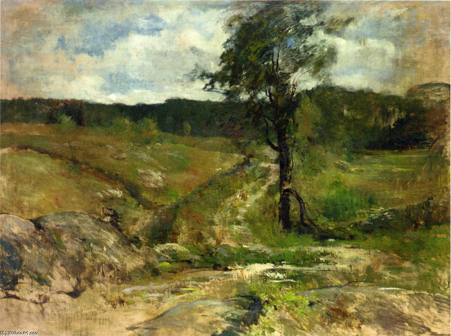 famous painting Branchville of John Henry Twachtman
