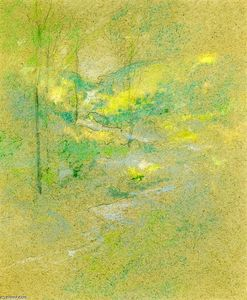 John Henry Twachtman - Brook among the Trees