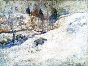 John Henry Twachtman - Brook in Winter