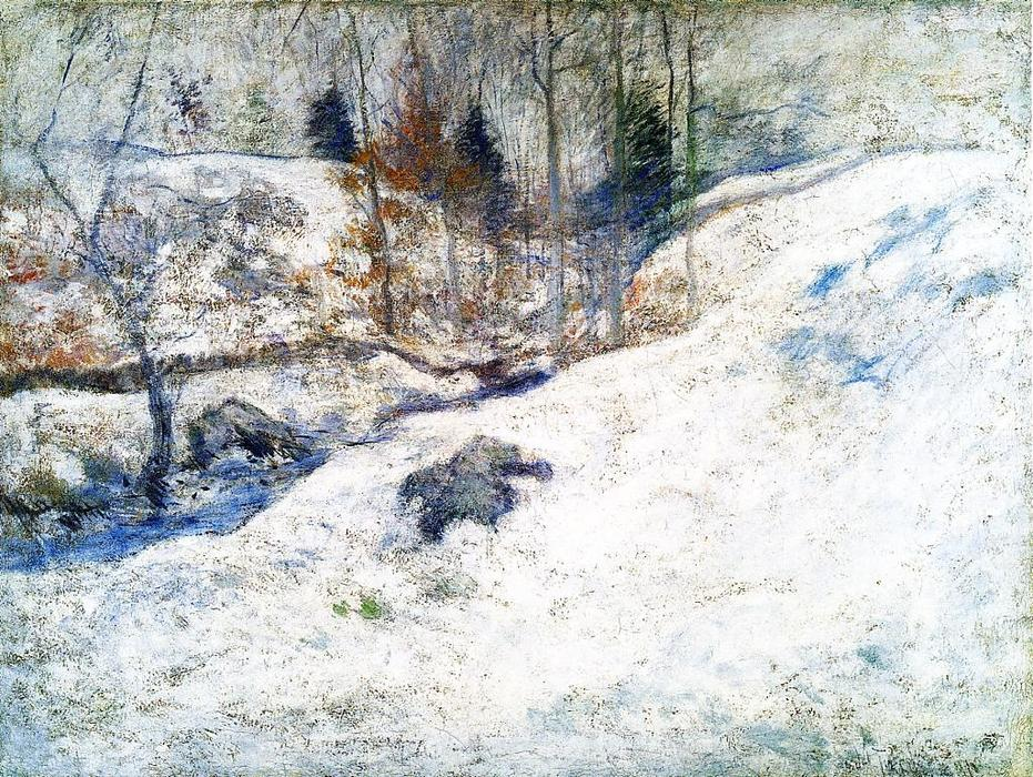 famous painting Brook in Winter of John Henry Twachtman