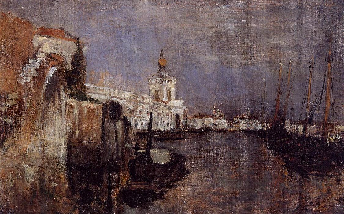 famous painting Canal, Venice of John Henry Twachtman