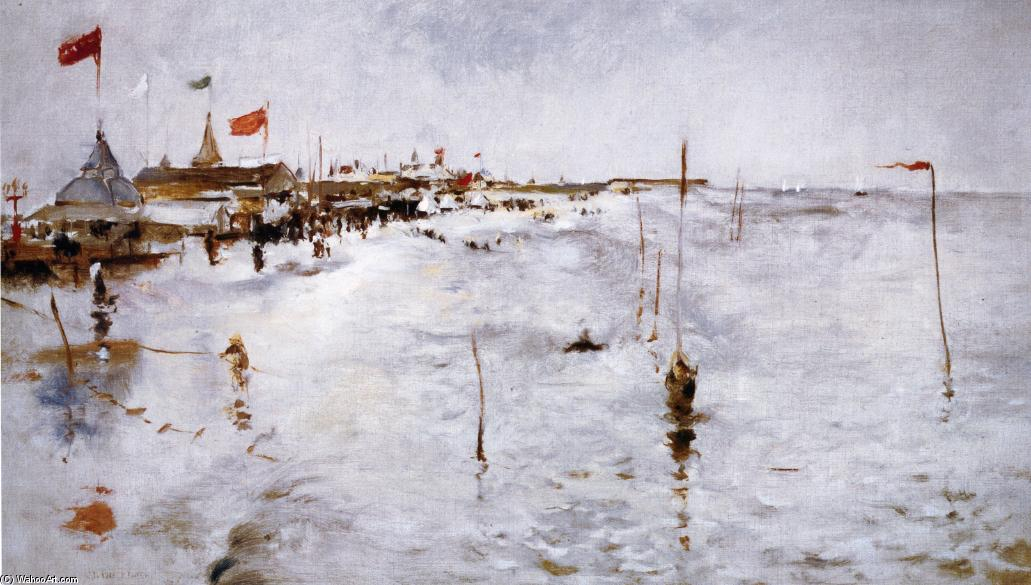 famous painting Coney Island From Brighton Pier of John Henry Twachtman