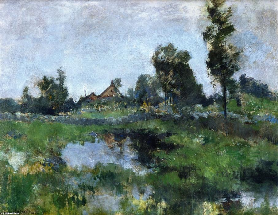 famous painting Connecticut Landscape of John Henry Twachtman