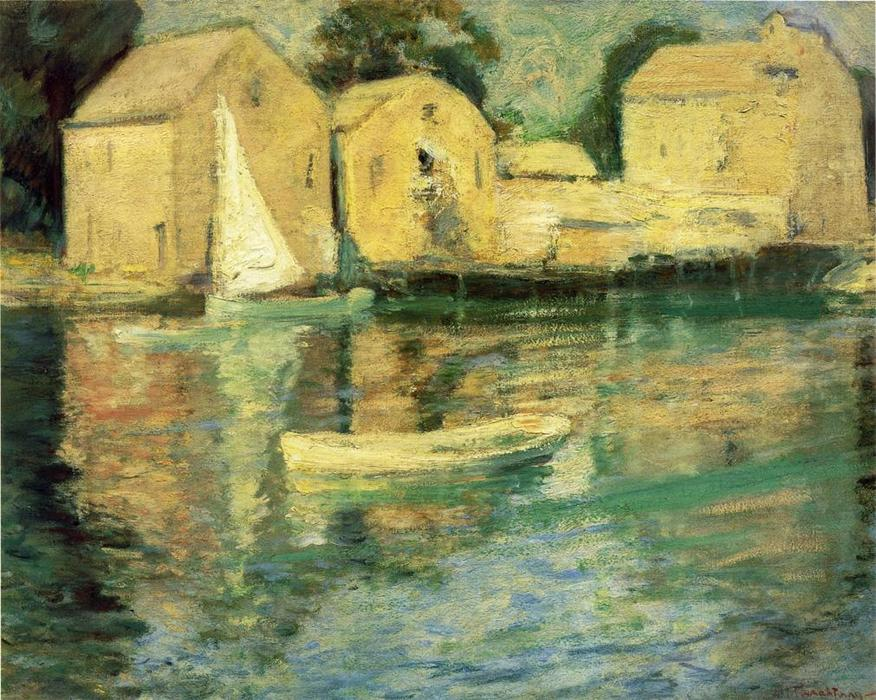 famous painting Cos Cob of John Henry Twachtman
