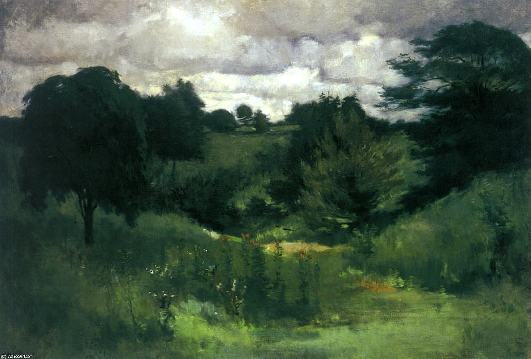 famous painting Dark Trees, Cincinnati of John Henry Twachtman