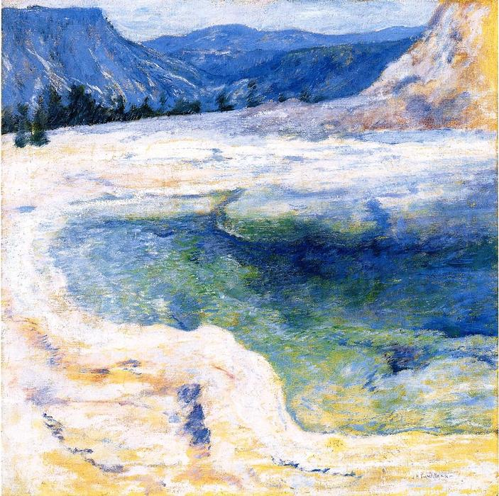 famous painting Emerald Pool of John Henry Twachtman