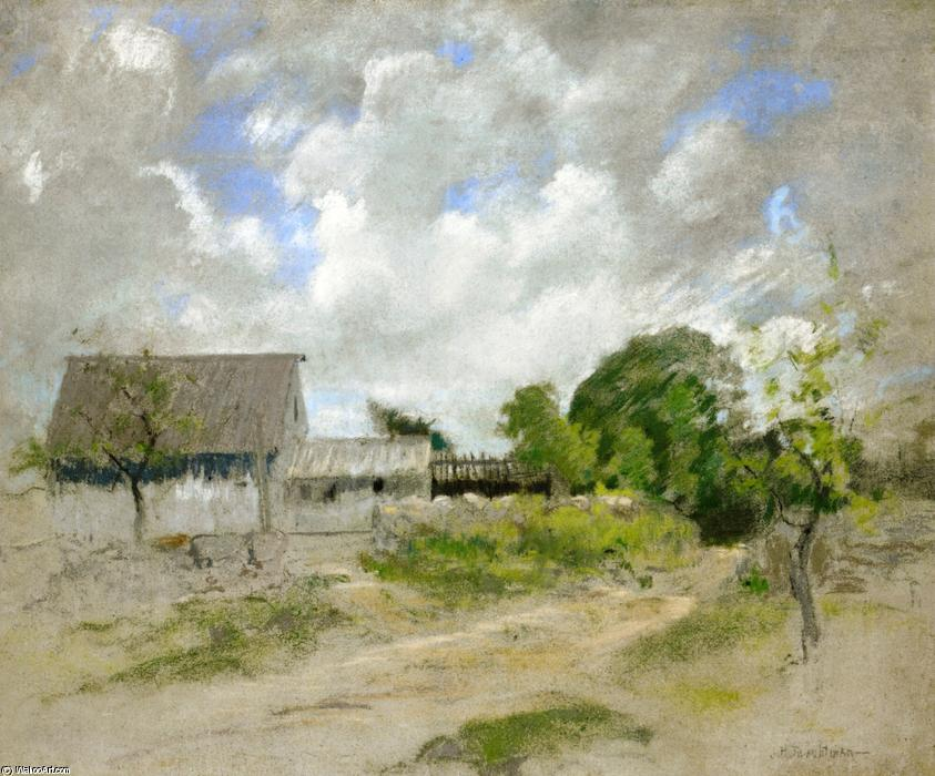 famous painting Farm Scene of John Henry Twachtman