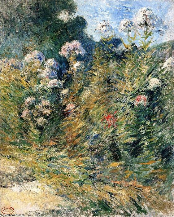 famous painting Flower Garden of John Henry Twachtman
