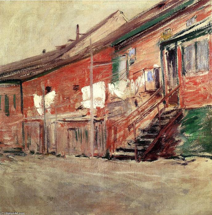 famous painting Gloucester, Fishermen's Houses of John Henry Twachtman
