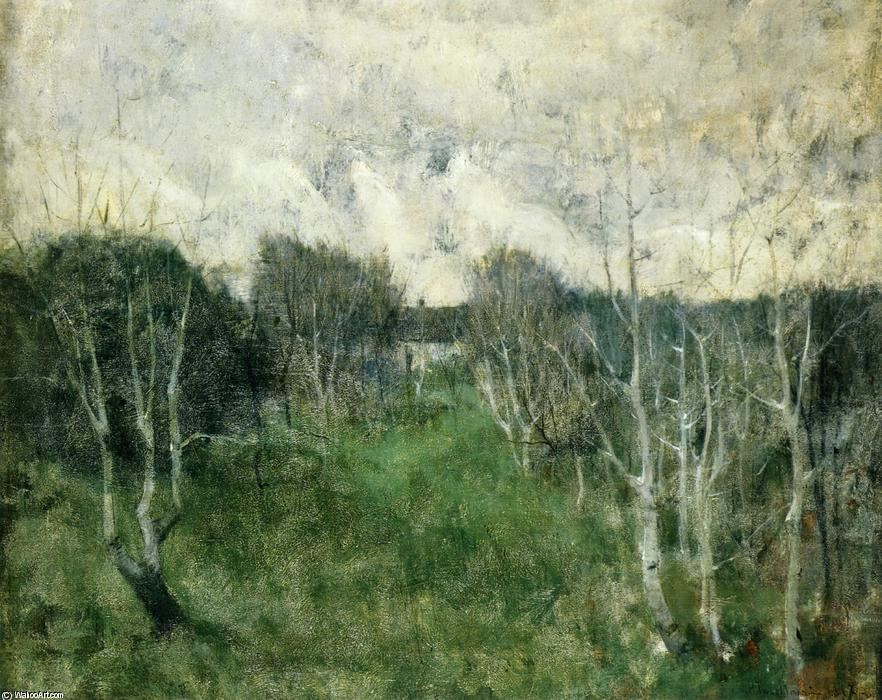 famous painting Gray Day of John Henry Twachtman