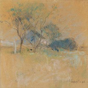 John Henry Twachtman - House and Tree