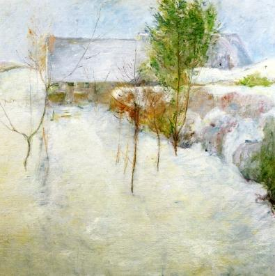 famous painting House in Snow of John Henry Twachtman