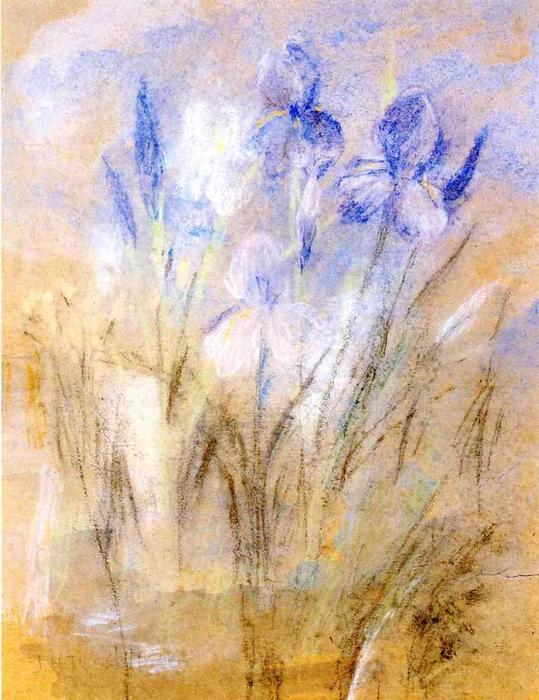 famous painting Irises of John Henry Twachtman