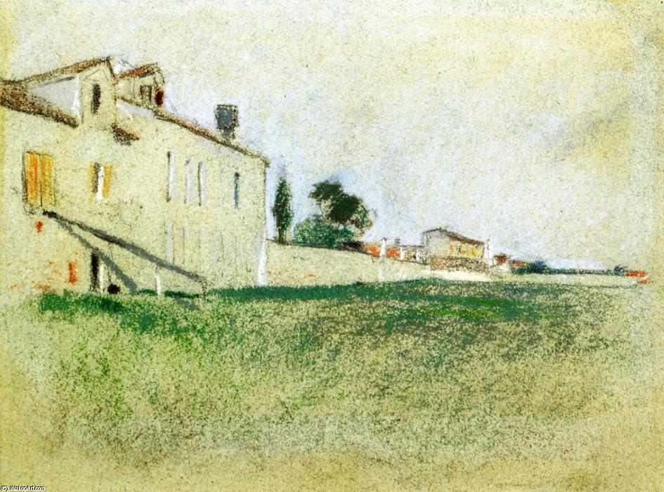 famous painting Near Paris of John Henry Twachtman