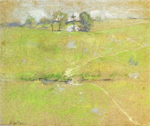 John Henry Twachtman - Path in the Hills, Branchville, Connecticut