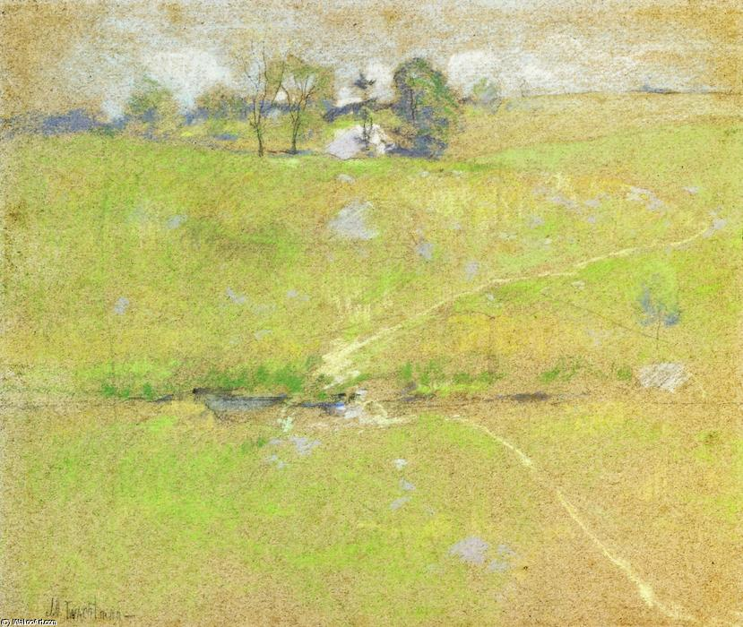 famous painting Path in the Hills, Branchville, Connecticut of John Henry Twachtman