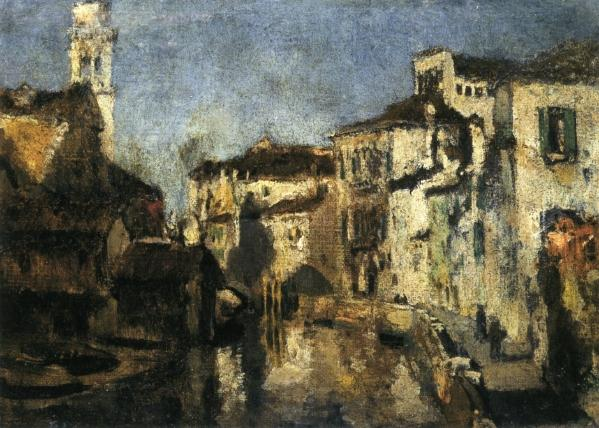 famous painting San Trovaso Square, Venice of John Henry Twachtman
