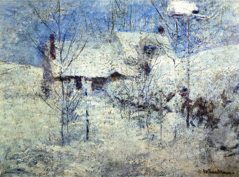famous painting Snowbound of John Henry Twachtman
